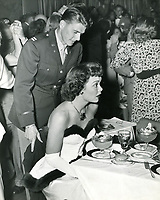 1948 Capt. Ronald Reagan & Jane Wyman at Ciro's Nightclub in West Hollywood