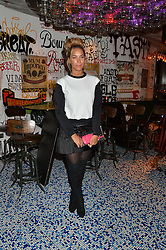 LEONA LEWIS at a party to celebrate the first anniversary of SushiSamba at the Heron Tower, 110 Bishopsgate, London EC4 on 12th November 2013.