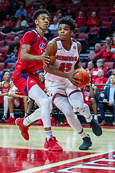 NORMAL, IL - December 18: Jaycee Hillsman drives the baseline defended by Jordan Blount during a college basketball game between the ISU Redbirds and the UIC Flames on December 18 2019 at Redbird Arena in Normal, IL. (Photo by Alan Look)
