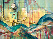 Painted alley wall and electricity meter