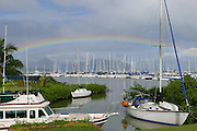 Rainbow, Yacht Club, Kaneohe Bay, Oahu, Hawaii
