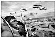 Tigermoth bi-planes flying over Kent