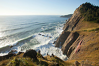 Looking out on the Pacific Ocean from Neahkahnie Mountain overlook off highway 101 near Manzanita, OR.