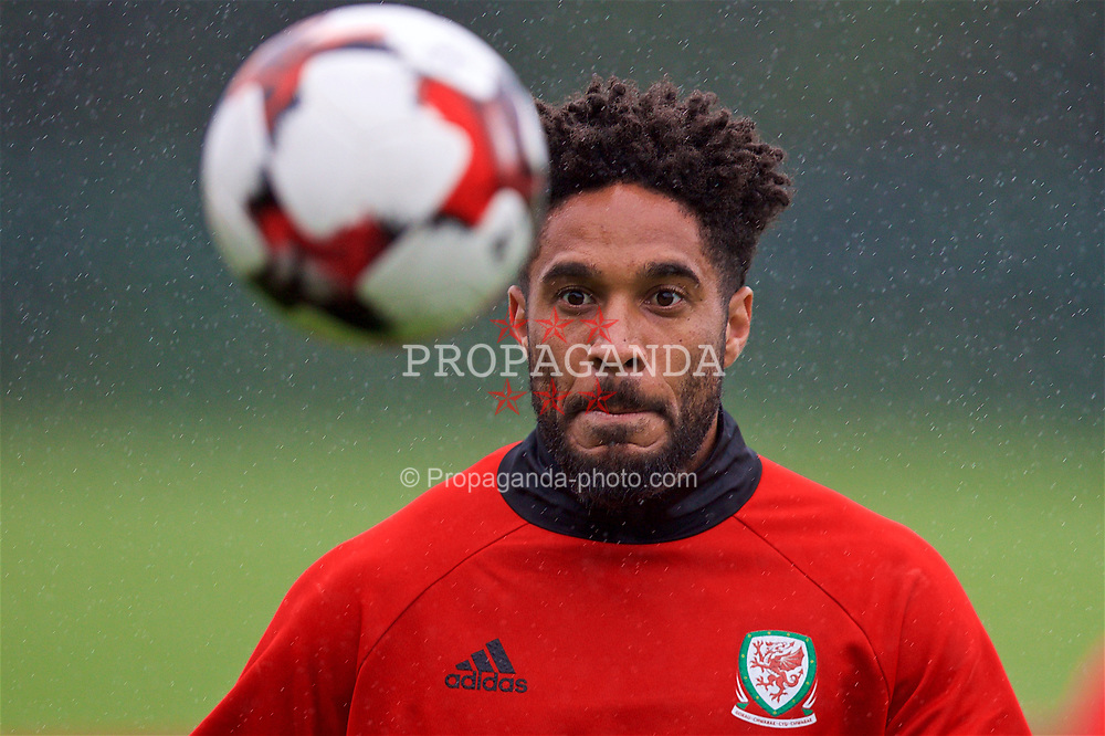 CARDIFF, WALES - Saturday, June 10, 2017: Wales' captain Ashley Williams during a training session at the Vale Resort ahead of the 2018 FIFA World Cup Qualifying Group D match against Serbia. (Pic by David Rawcliffe/Propaganda)