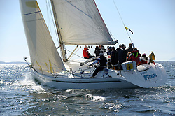 The Clyde Cruising Club's Scottish Series held on Loch Fyne by Tarbert. Day 2 racing in a perfect southerly, GBR9963 ,. First By Farr , Ian McNair , CCC , First 45F5.