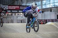#38 (MATSUSHITA Tatsumi) JPN at Round 2 of the 2019 UCI BMX Supercross World Cup in Manchester, Great Britain