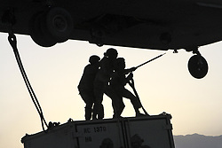 May 20, 2017 - Afghanistan - Soldiers conduct slingload operations at Bagram Airfield, Afghanistan, May 22, 2017. The soldiers are assigned to Task Force Muleskinner. (Credit Image: ? Shelia Cooper/Army/DoD via ZUMA Wire/ZUMAPRESS.com)