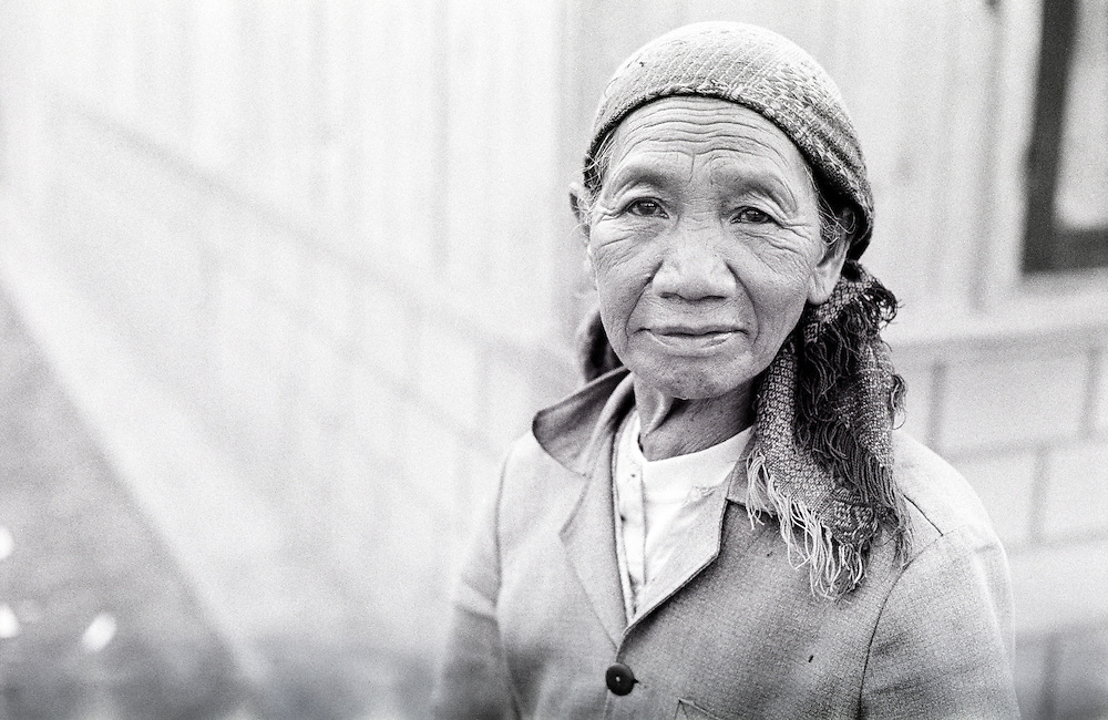 Woman in a village in the central highlands area of Vietnam, South East Asia.
