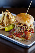The Tom and Todd's Heavenly Barbecue Burger with fresh fries.