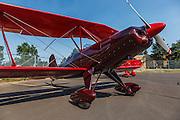 Experimental biplane at Oregon Aviation Historical Society.