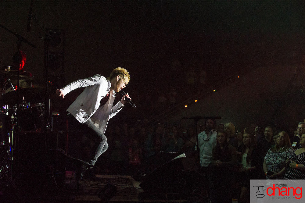 MOBILE, AL - MARCH 16:  Colton Dixon performs during The Miracle Tour at Cottage Hill Baptist Church on March 16, 2013 in Mobile, Alabama.  (Photo by Michael Chang/Getty Images)