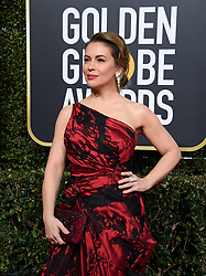 January 6, 2019 - Beverly Hills, California, United States of America - Alyssa Milano arrives at the 76th Annual Golden Globe Awards at the Beverly Hilton in Beverly Hills, California on  Sunday, January 6, 2019. HFPA/POOL/PI (Credit Image: © Prensa Internacional via ZUMA Wire)
