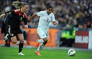 Demi Stokes of England Women is chased by Tabea Kemme of Germany Women<br /> - Womens International Football - England vs Germany - Wembley Stadium - London, England - 23rdNovember 2014  - Picture Robin Parker/Sportimage