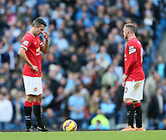 Manchester United's Robin Van Persie looks on dejected after going 1-0 down<br /> <br /> - Barclays Premier League - Manchester City vs Manchester Utd - Etihad Stadium - Manchester - England - 2nd November 2014  - Picture David Klein/Sportimage