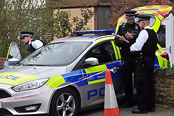 © Licensed to London News Pictures.12/04/2018<br /> HITHER GREEN, UK.<br /> Police outside Osborn-Brooks house.<br /> SOUTH PARK CRESCENT,Hither Green TIME 2.30PM.<br />  Hither Green Burglary Murder. South Park Crescent,Hither Green.<br />  Home of 78 year old Richard Osborn-Brooks who stabbed a burglar to death in his home.<br /> Photo credit: Grant Falvey/LNP