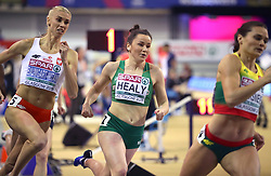 Ireland's Phil Healy during the 400m Women Heat 2 during day one of the European Indoor Athletics Championships at the Emirates Arena, Glasgow.