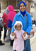 Mother and daughter at Islamic festival, Islamic Center of Reading PA