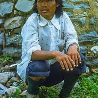 Tsering, a Tibetan refugee who guided G & M Wiltsie around Annapurna in 1977.