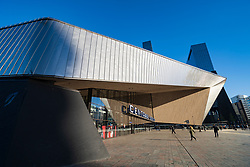 Exterior of new Centraal Station in Rotterdam, The Netherlands