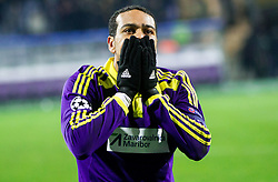 Marcos Tavares of Maribor looks dejected after the football match between NK Maribor, SLO  and FC Schalke 04, GER in Group G of Group Stage of UEFA Champions League 2014/15, on December 9, 2014 in Stadium Ljudski vrt, Maribor, Slovenia. Photo by Vid Ponikvar / Sportida