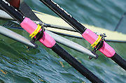 Munich, GERMANY, CHN M2X. Bow Zheng CHEN and Hui Su.  Oars and Gates, At the start, during the FISA World Cup at the Munich Olympic Rowing Course, Thur's.  08.05.2008  [Mandatory Credit Peter Spurrier/ Intersport Images] Rowing Course, Olympic Regatta Rowing Course, Munich, GERMANY
