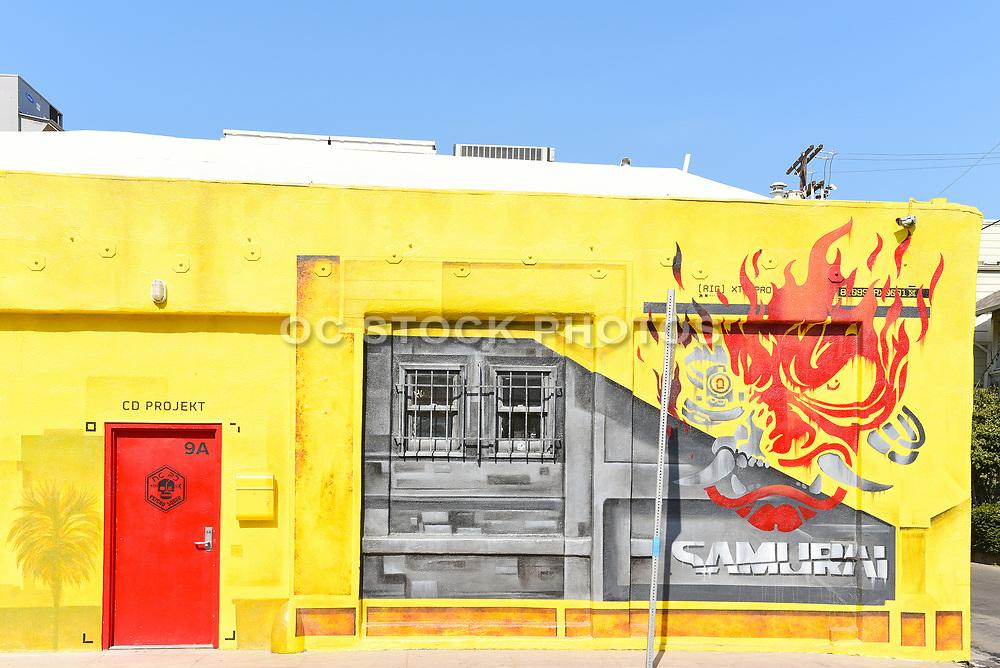 CD PROJEKT Red Yellow Building in Venice Beach