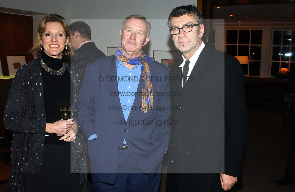 Left to right, SIR TERENCE & LADY CONRAN and artist JACK VETTRIANO at a party to celebrate a book of work by artist Jack Vettriano held at The Bluebird Club & Dining Room, 350 Kings Road, London on 7th December 2004.<br /><br />NON EXCLUSIVE - WORLD RIGHTS