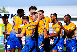 Mansfield Town players celebrate the goal of Tyler Walker of Mansfield Town - Mandatory by-line: Ryan Crockett/JMP - 01/09/2018 - FOOTBALL - One Call Stadium - Mansfield, England - Mansfield Town v Carlisle United - Sky Bet League Two