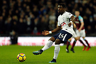 Serge Aurier of Tottenham Hotspur in action. Premier league match, Tottenham Hotspur v West Ham United at Wembley Stadium in London on Thursday  4th January 2018.<br /> pic by Steffan Bowen, Andrew Orchard sports photography.