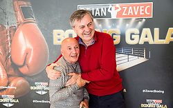 Stane Milutinovic and Tadija Kačar during Official weighting ceremony one day before Dejan Zavec Boxing Gala event in Laško, on April 20, 2017 in Thermana Lasko, Slovenia. Photo by Vid Ponikvar / Sportida