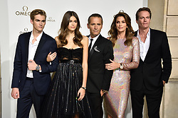 Presley Gerber, Kaia Gerber, Raynald Aeschlimann, Cindy Crawford and Rande Gerber attending Her Time Omega photocall as part of the Paris Fashion Week Womenswear Spring/Summer 2018 on September 29, 2017 in Paris, France. Photo by Alban Wyters/ABACAPRESS.COM