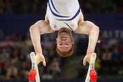 Mcc0055084 . Daily Telegraph<br /> <br /> Scotland's Daniel Purvis on the Parallel Bars  in the Men's Individual Artistic Gymnastics on Day 7 of the 2014 Commonwealth Games .<br /> <br /> 30 July 2014