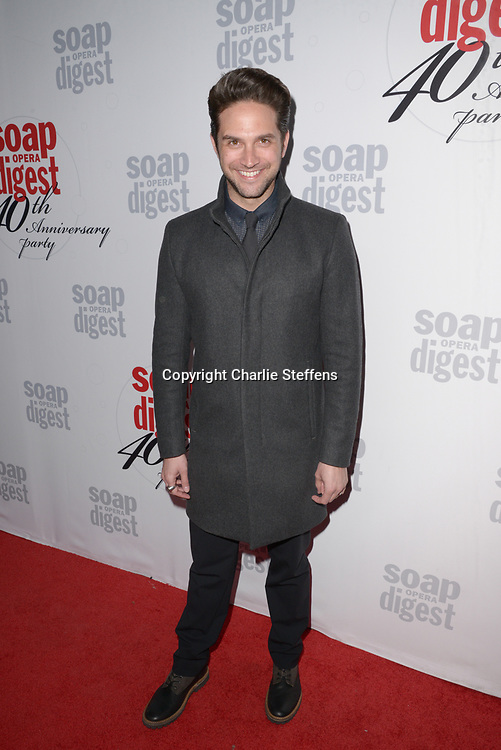 BRANDON BARASH at Soap Opera Digest's 40th Anniversary party at The Argyle Hollywood in Los Angeles, California
