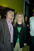 RONNIE  AND JO WOOD, Ideas And Idols - private view of work by Paul Karslake.<br />Scream, 34 Bruton Street, London, W1, 6.30-8.30pm<br />21 February 2008.  *** Local Caption *** -DO NOT ARCHIVE-© Copyright Photograph by Dafydd Jones. 248 Clapham Rd. London SW9 0PZ. Tel 0207 820 0771. www.dafjones.com.