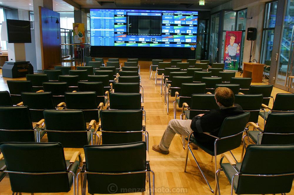 Stock Exchange.  Warsaw, Poland.