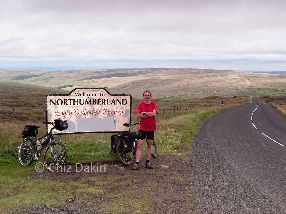 Entering Northumberland on the C2C cycle route