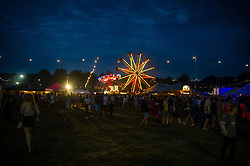 General view of the arena at night on day 1 of Standon Calling Festival on July 27, 2018 in Standon, England. Picture date: Friday 27 July, 2018. Photo credit: Katja Ogrin/ EMPICS Entertainment.
