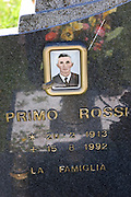 Cemetery in Radicofani, Italy (near Pienza) with photo on a gravestone.