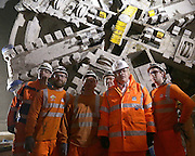 """Crossrail's 26 mile tunnelling marathon entered the home straight today when the Mayor of London visited tunnel boring machine Victoria, 42 metres below ground at the new Liverpool Street Crossrail station.<br /> <br /> Crossrail's final tunnelling machines, Victoria and Elizabeth, are currently being prepared to complete the last two 750 metre tunnel drives between Liverpool Street and Farringdon. When they reach their destination and the big east-west breakthrough is complete, all 26 miles of Crossrail's new train tunnels will have been created.<br /> <br /> Boris Johnson, Mayor of London, said: """"These hardworking beasts have slowly but steadily been working their way across London underneath our feet. The last time I saw them they were at Canary Wharf, and now nearly six million tonnes of earth has been excavated and their work is almost complete. The project, the largest in Europe, will transform rail services across London and remains on time and on budget. """"We must capitalise on its success and work to ensure Crossrail 2 becomes a reality. With the government confirming this week the Crossrail 2 route is now safeguarded, and businesses and the public showing overwhelming support for the plan, we are moving even closer to delivering another much needed new rail line for the capital.""""<br /> <br /> Transport Secretary Patrick McLoughlin, said: """"The scale and complexity of Crossrail's tunnelling works is astounding and shows British engineering at its best. I congratulate all involved and look forward to the completion of the project which will play a vital role in driving forward our long term economic plan.""""<br /> <br /> Terry Morgan, Crossrail Chairman, said: """"It's fantastic that the end of tunnelling is now in sight. For nearly three years, our machines have been inching their way forward beneath the streets of London. Once the tunnelling is complete, we will turn our attention to fitting out the tunnels with the tracks, cabling and all the systems needed to d"""