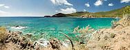 Looking across Little Lamesur Bay from Yawzi Point in Virgin Islands National Park, USVI