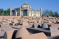China. Sinkiang Province (Xinjiang).  Kashgar (Kashi). Abakh Hoja tomb. // Chine. Province du Sinkiang (Xinjiang). Kashgar (Kashi). Tombe de Abakh Hoja.
