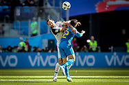 Marcos Urena of Costa Rica and Fagner of Brazil during the 2018 FIFA World Cup Russia, Group E football match between Brazil and Costa Rica on June 22, 2018 at Saint Petersburg Stadium in Saint Petersburg, Russia - Photo Thiago Bernardes / FramePhoto / ProSportsImages / DPPI