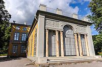 "Sweden. Hagaparken (""Haga Park""), or simply Haga in Solna just north of Stockholm. King Gustav III's Pavilion"