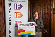 Anne McKechin MP supporting the Enough Food for Everyone?IF campaign. .MP's and Peers attended the parliamentary launch of the IF campaign in the State Rooms of Speakers House, Palace of Westminster. London, UK.