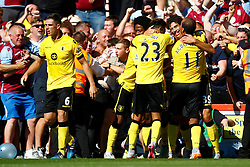 Goal, Rudy Gestede of Aston Villa scores, Aston Villa 1-0 AFC Bournemouth - Mandatory by-line: Jason Brown/JMP - Mobile 07966 386802 08/08/2015 - FOOTBALL - Bournemouth, Vitality Stadium - AFC Bournemouth v Aston Villa - Barclays Premier League - Season opener