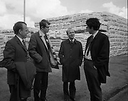 British Merchants Visit Bord Na Mona..07.06.1972..06.07.1972..7th June 1972..A group of forty British Merchants were invited by Bord na Mona to tour their works at Coolnamona,Portlaoise,Co Laois..Photograph taken of several of the British Merchants touring group at the facility in Coolnamona..