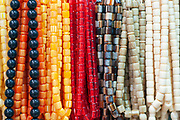 Amber prayer beads for sale in the market in Nazareth, Israel