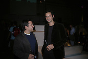 Jay Osgerby and Edward Barber, Established and Sons UK Launch during Design Week. The Bus Depot, Hertford Road. Hoxton. 22 September 2005.  ONE TIME USE ONLY - DO NOT ARCHIVE © Copyright Photograph by Dafydd Jones 66 Stockwell Park Rd. London SW9 0DA Tel 020 7733 0108 www.dafjones.com