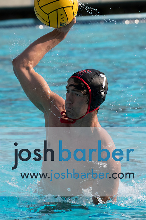 Tustin's Aidan Caporicci during the CIFS-SS Division 6 Championship Final at William Woollett Jr. Aquatic Center on Saturday, November 10, 2018 in Irvine, Calif. Valley View won 10-9. (Photo by Josh Barber, Contributing Photographer)