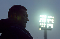 18/12/2004 - FA Barclays Premiership - Blackburn Rovers v Everton - Ewood Park<br />Everton manager David Moyes stands beneath the floodlights<br />Photo:Jed Leicester/Back Page Images
